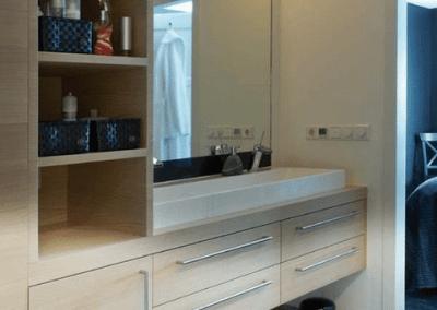 Badkamer ouders meubel maatwerk wastafelkast