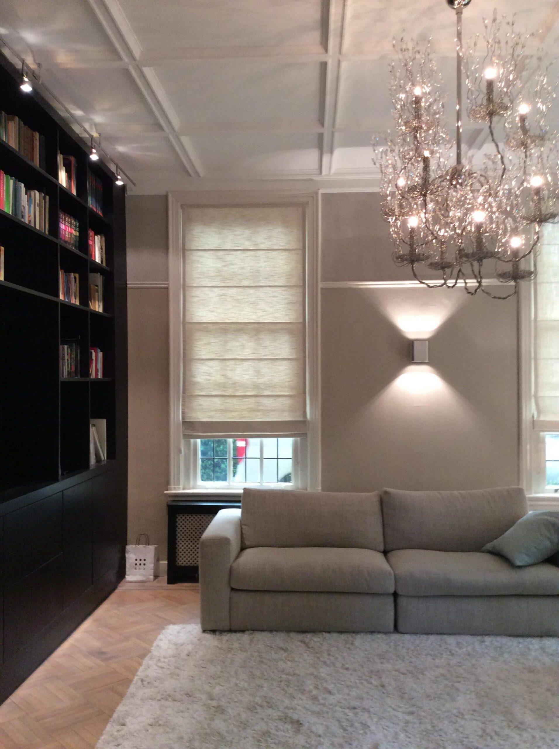 verlichting tv en bibliotheek kamer