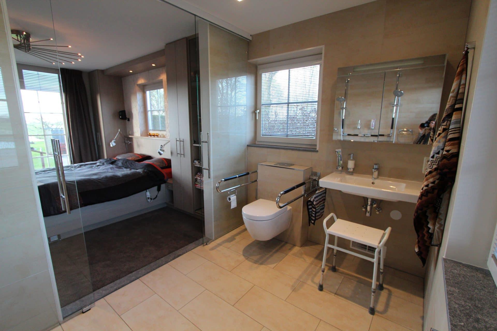 Minder-valide bad- en slaapkamer minder valide