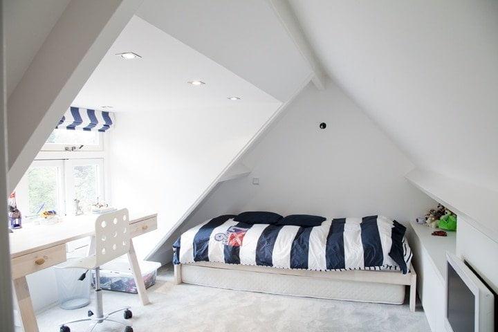 slaapkamer jongen met nieuwe dakkapel en ingebouwde kasten
