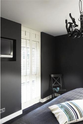 Ouderslaapkamer ingebouwd flatscreen